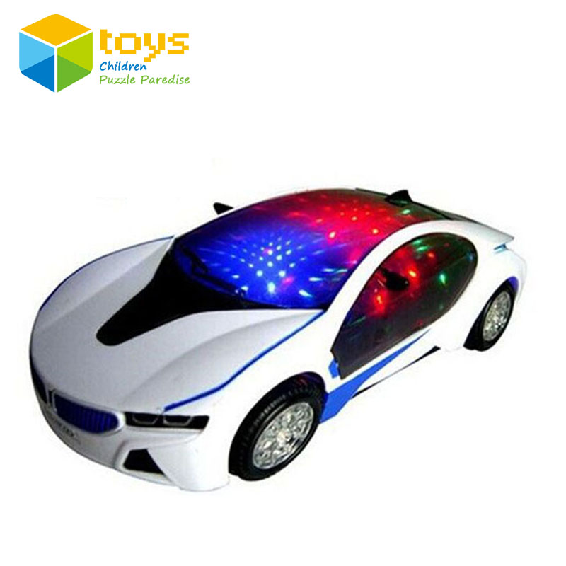 simulation electric universal musical toy police cars for children kids with 3d light sound luminous battery