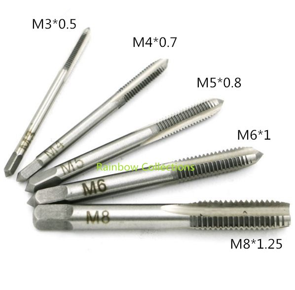 Bekend 5pcs/set M3 M4 M5 M6 M8 Hand tap thread wire tapping/threading NI63