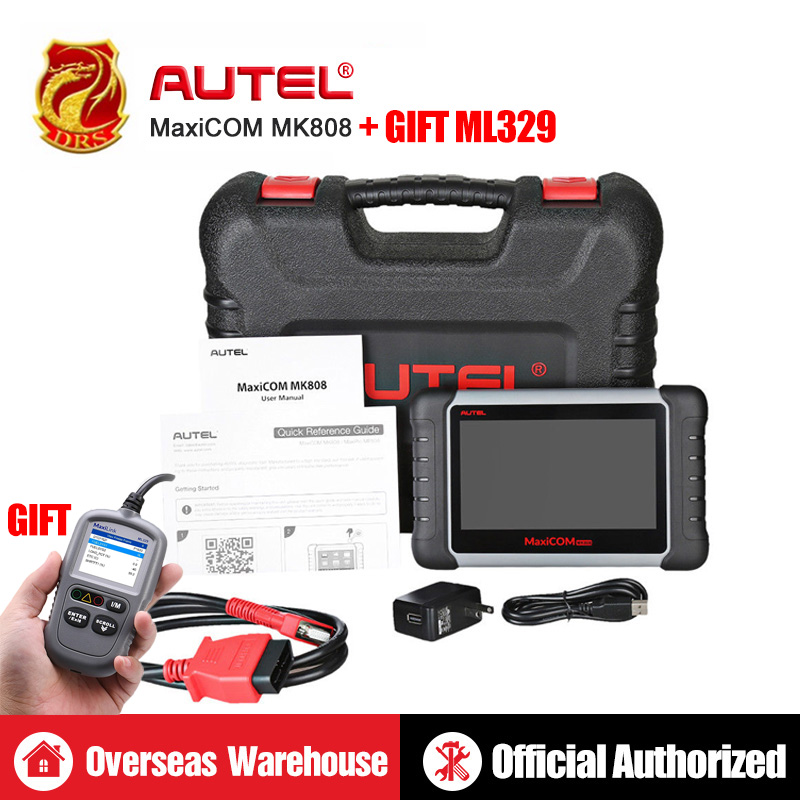 Autel MaxiCOM MK808 MX808 Automotive Scanner OBD2 OBDII Car Diagnostic Scanner Universal Tool Full Systems Auto Code Reader ABS-in Multimeters & Analyzers from Automobiles & Motorcycles