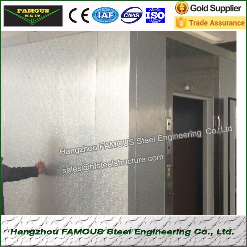 Stucco Embossed Aluminum Cold Storages PU Panel