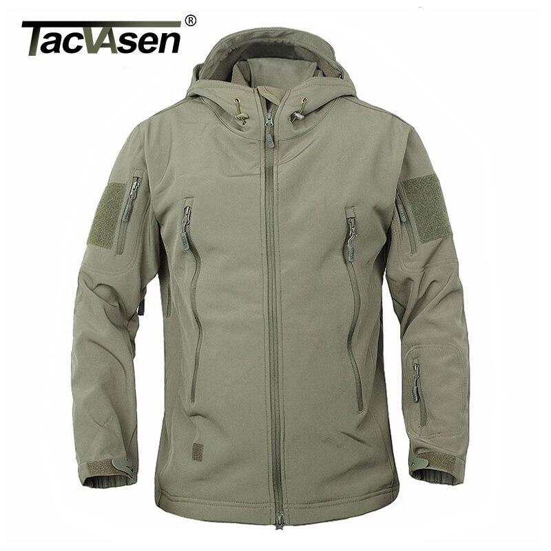 TACVASEN Army Camouflage Coat Military Tactical Jacket Men Soft Shell Waterproof Windproof Jacket Coat Plus Size 4XL Raincoat