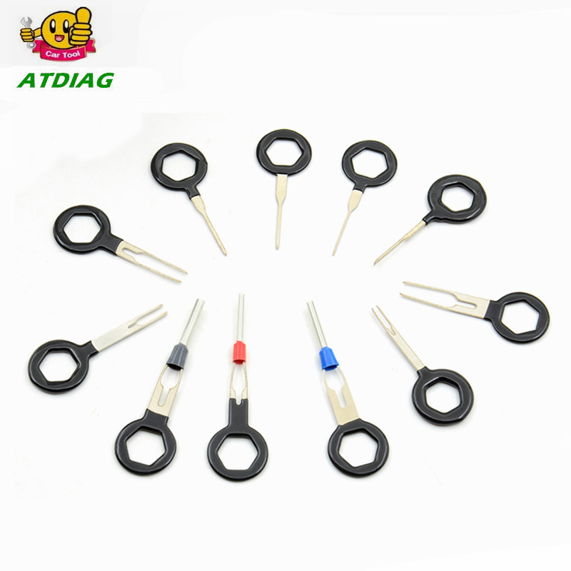 sales auto car plug 11pcs circuit board wire harness terminal extraction pick connector crimp