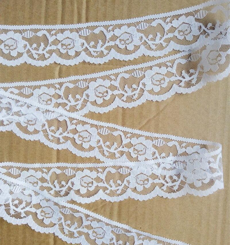 Ширина 40 мм 10 ярдов Белый вышитые чистая кружевной отделкой ткани одежды лента повязка Свадебные украшения подарок для поделок аксессуары GH-845