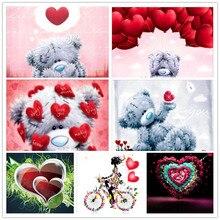 DIY round diamond painting 5D heart-shaped combination embroidery cross stitch mosaic rhinestone home decoration gift