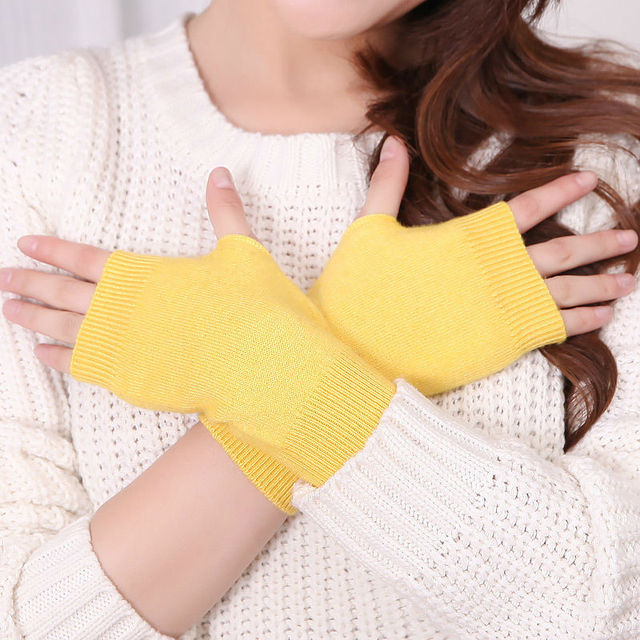 97cacd52912 Packaging Sale 5Pairs   Pack Genuine Women s Wool Mitts Gloves fingerless  gloves winter and autumn Knitted for women mitten