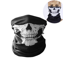 Bicycle Ski Bandana Skull Scary Motorcycle Face Mask Biker Riding Scarf  Women Men Scarves Windproof Face a9d9cbbc18