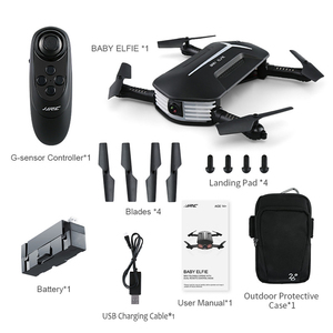 Image 5 - JJRC H37 Mini Cho Bé ElFIE Selfie 720P Wifi FPV Với Cao Độ Giữ Chế Độ Không Đầu Có Thể Gập Lại RC Drone Quadcopter RTF nhiều Pin