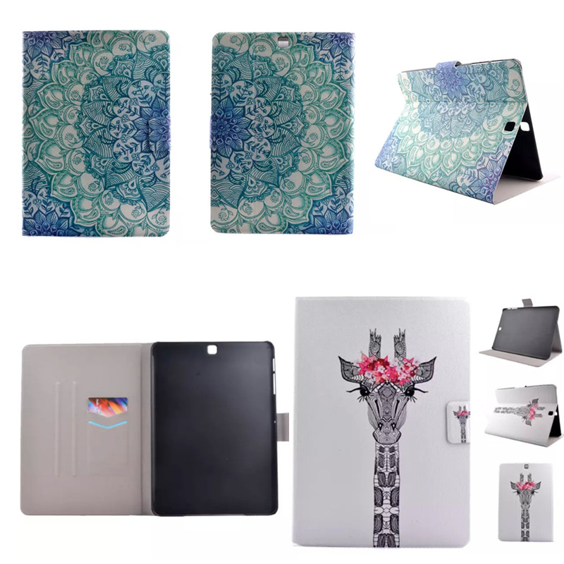 XX  Cute Cartoon OWI Flip Wallet Luxury PU Leather Stand Case For Samsung Galaxy Tab S2 8.0 SM-T710 T715 T710 sm-t715 T713 T719 new pu leather flip stand wallet cover case spell colour card slot case cover for samsung galaxy tab s2 8 0 t710 t715 t719 cases