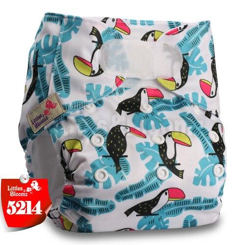 [Littles&Bloomz] Детские Моющиеся Многоразовые, настоящая стандартная ткань, застежка-липучка, карман для подгузников, пеленки, обертывание, подходит для рождения в горшке - Цвет: 5214
