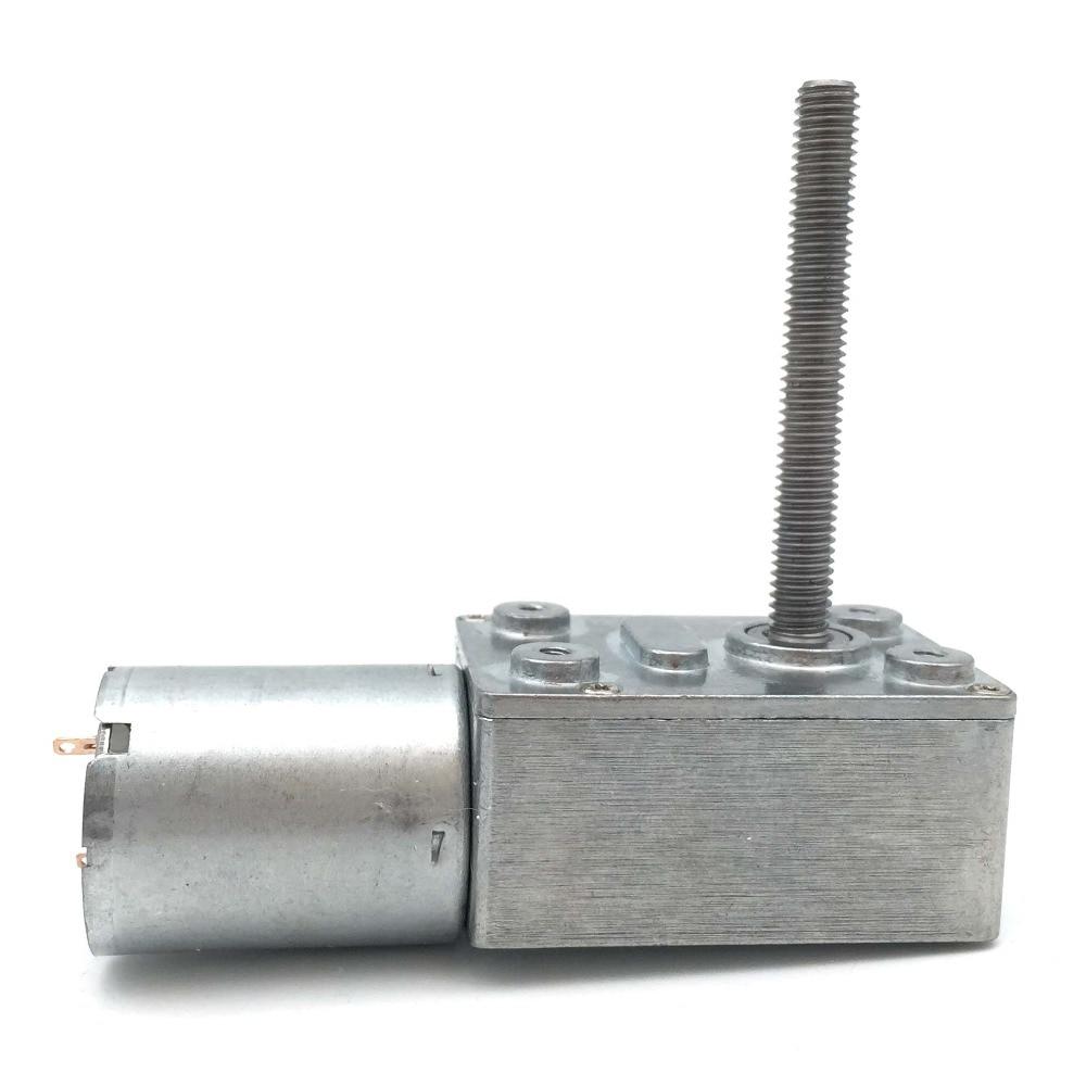 DC 6V 12V 9RPM Micro Slow Speed Gear Reducer Motor hexagon Shaft DIY Robot Toy