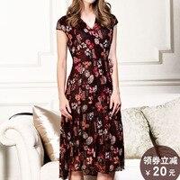 Double Layer Mesh Silk Dress, Summer Short Sleeve, Big Long Size, Loose 100% PURE Silk Dress, Big Pendulum Type