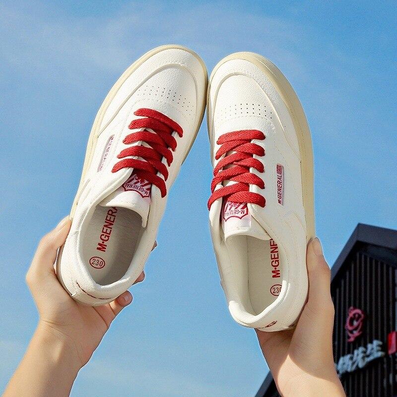 Kleine Weiß Herbst Koreanische Niedrige Hilfe Schuhe Student Leinwand-MAM