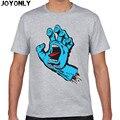 Alegria Apenas New Skate Skate Santa Cruz t shirt Homens Roupas De Skate t-shirt Dos Homens de Fitness Casual Camisetas 3D Impresso Tops TA60