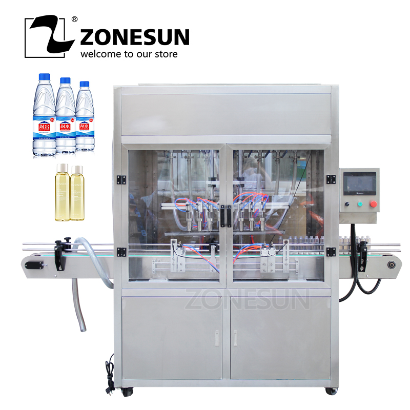 ZONESUN Automatic Pneumatic High Speed Beverage Production Line Perfume Beer Alcohol Hydrogen Peroxide Milk Oil Filling Machine