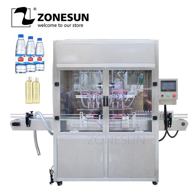 ZONESUN นิวเมติกอัตโนมัติความเร็วสูงสายการผลิตเครื่องดื่มน้ำหอมน้ำดื่มนมน้ำมันเครื่องผู้ผลิต
