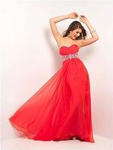 Prom Kleider Neue 2016 Hot A-line Bodenlangen Chiffon Lang Abendkleid Formale Kleid Schatz Homecoming Kristalle F677