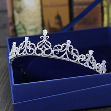 Stunning Cubic Zircon Crystal Tiaras Crowns Bridal Hair Jewelry Wedding CZ Accessories Women Rhinestone Tiara Headdress CR074