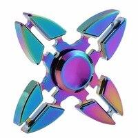 Rotation Time Long Tri Spinner Fidget Funny Toys Metal EDC Fidget Spinner Hand Spinner For Kids