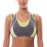 Women S High Impact Support Wirefree Workout Racerback Sports Bra Top