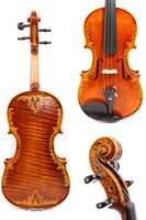 4/4 Violin One piece Tiger Flame maple Spruce wood Hand Carved Pattern Master level #GY14