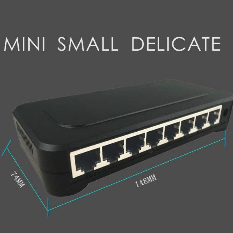 OEM 10 / 100mbps RJ45 8 Port Fast Ethernet Switch Lan Hub US EU Plug 5v Adapter Power Supply Network Switch 3