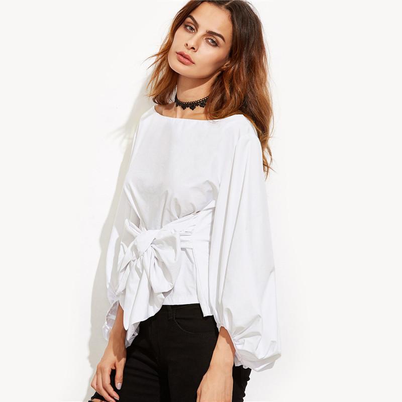 HTB15EaiNVXXXXXQapXXq6xXFXXXf - Shirts Women Tops Long Sleeve Lantern Sleeve Blouse
