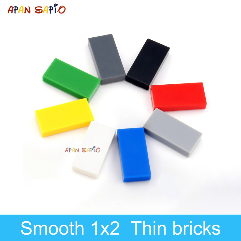 DIY Building Blocks Thin Figure Bricks Smooth 1x2 280PCS Lot 8Color Educational Creative Compatible With Legoe Toys For Children