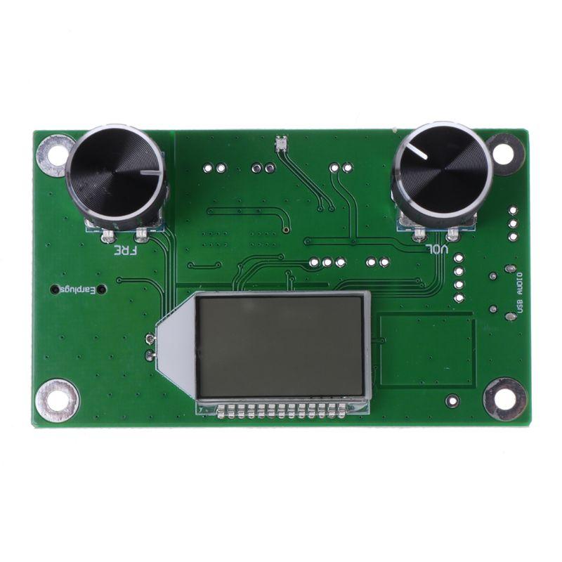 Atualizado 87-108 MHz DSP & FM Módulo Receptor de Rádio Stereo PLL LCD Digital + Controle de Série Profissional