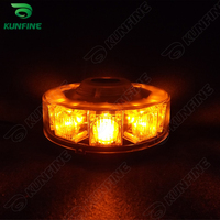 Round LED strobe light with High Power LED With 8 flash Patterns include magnet in the light