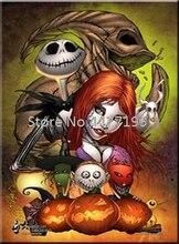 Halloween 5D DIY Diamond Skull Pumpkin Full Painting Cross Stitch Square Drill Mosaic Decoration