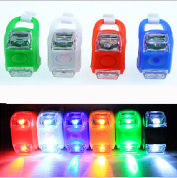 1pcs Mini Waterproof Silicone mountain Bike Light Cycling Beetle Warning lights Front Rear Tail Lamp Bicycle light BL8021