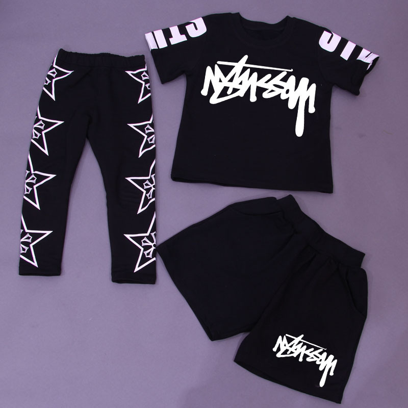Kids Clothes Suits 3 pieces Sets Children Clothing Girls New Streetwear Dance Set Unisex Parkour Running Sports Suit Sets Boys
