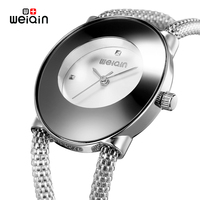 WEIQIN Brand Women Watches Fashion Party Ladies Watch Creative Design Bracelet Watch Waterproof Relojes Mujer 2017