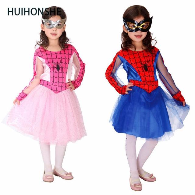 Spider Meisje Kostuums Kinderen Spiderman Cosplay Dans Jurk Kerst