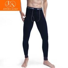Радостное Lucky Для мужчин подштанники хлопок стрейч Сегунда Пеле Termica Homem Брюки линии теплые Термальность Нижнее белье хлопковый джемпер брюк