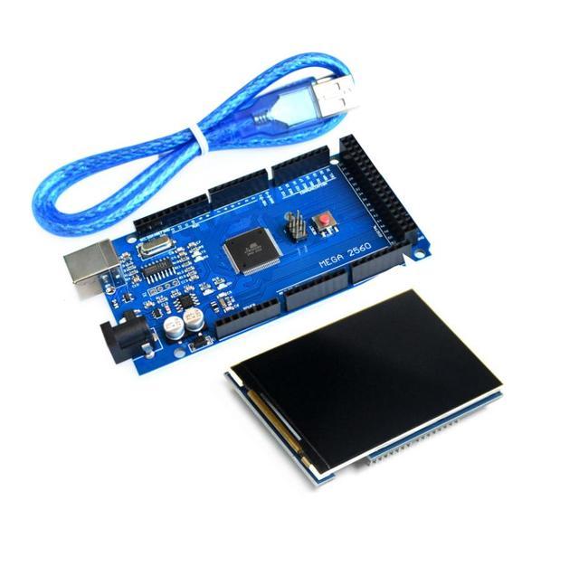 """무료 배송 LCD 모듈 3.5 인치 TFT LCD 화면 3.5 """"+ 메가 2560 R3 Mega2560 REV3 보드 Arduino 용"""