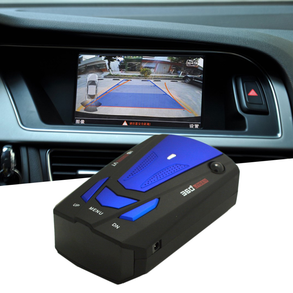 Blue/Red 360 Degrees Car Radar Detector 16 Band Voice Alert Laser V7 Security Speed Rada ...