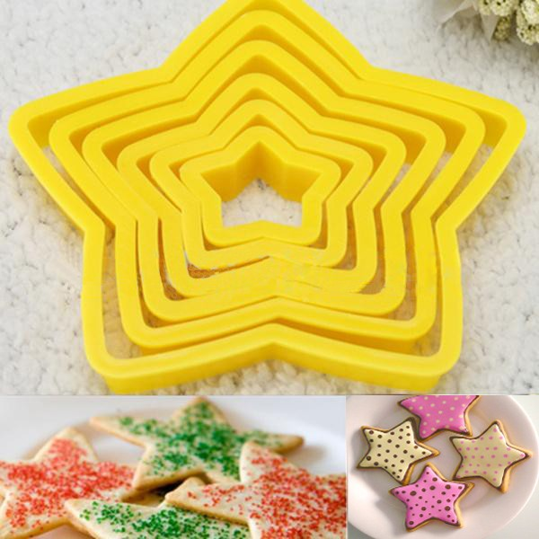 Star Shaped Plastic Mould Cookie Cutter