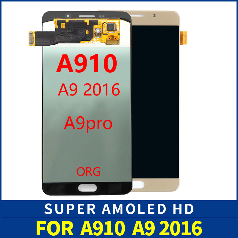 Super AMOLED A9 2016 LCD A9100 Display Touch Screen Assembly For Samsung Galaxy A9 Pro A910F A910 lcd DisplaySuper AMOLED A9 2016 LCD A9100 Display Touch Screen Assembly For Samsung Galaxy A9 Pro A910F A910 lcd Display