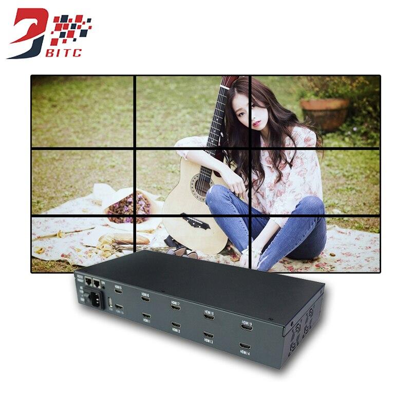 SZBITC Nuovo Prodotto Video Wall 2x2 3x3 1080 p Risoluzione Per TV LCD Video Wall uscita HDMI DVI USB