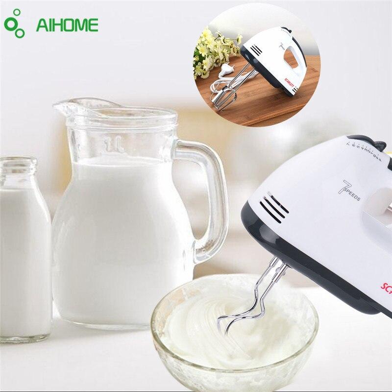 7 Speeds Hand Mixer 180W White Egg Beaters Electric Mixer EU Plug Kitchen Supplier