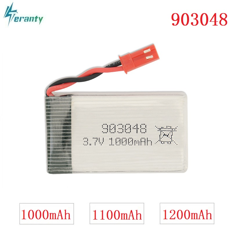3.7V 1000mAh/1100mAH/1200mAh 20c Lipo Battery For Remote Control Helicopter/Airplanes Batteries Li-po 3.7v 903048 JST Plug