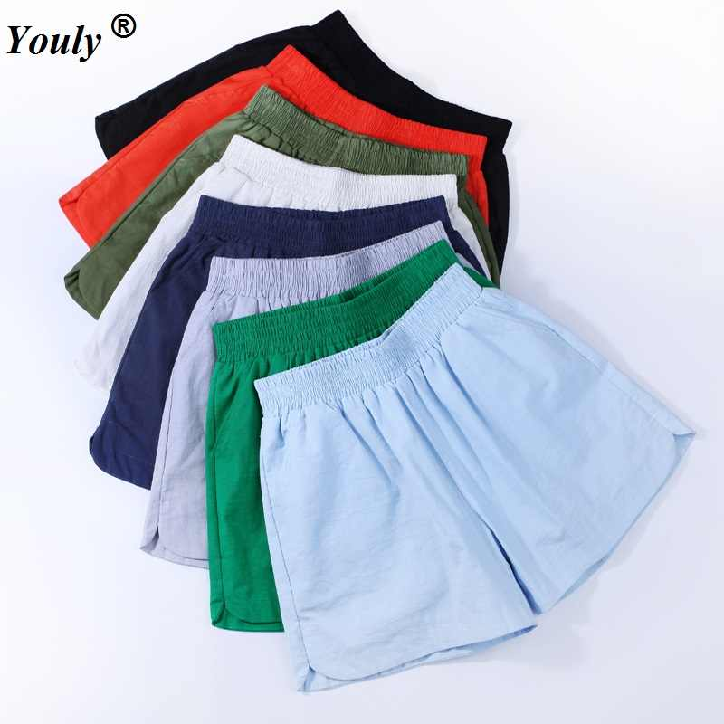 c0ccee3338c Hot Sale 2019 Women Shorts Solid Short Femme Pocket Cotton Linen Summer  Shorts Casual Loose Candy