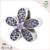 Novo 925 de Plata Flor de Bolas roxo circón esmalte encantos europeus pulseira berloque colar de strass DIY atacado