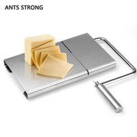 ANTS STRONG stainless steel cheese slicer/Butter wire making cutting board cheesewire cut cooking kitchen tools