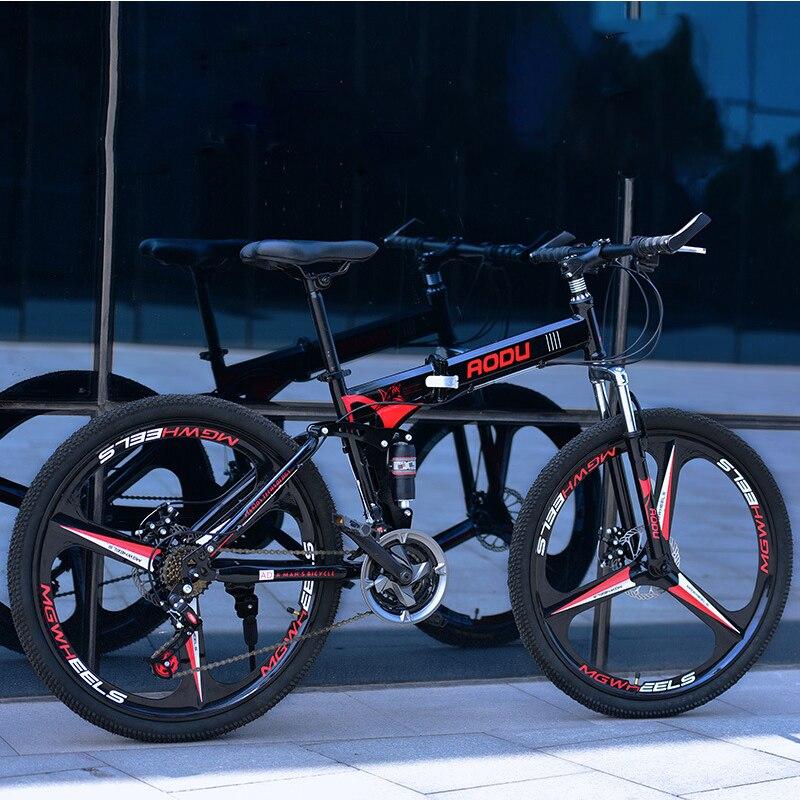 VTT adulte 26 pouces 21/24/27 vitesses vélos de montagne en acier à haute teneur en carbone sport hommes femmes bicicleta