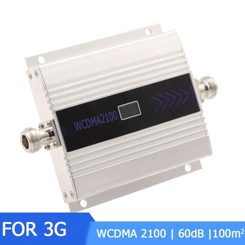 3G Mobile Cell Phones Signal Repeater Booster Amplifier UMTS 2100MHz  Band 1 LCD Display Cellphone Cellular Signal Amplifier