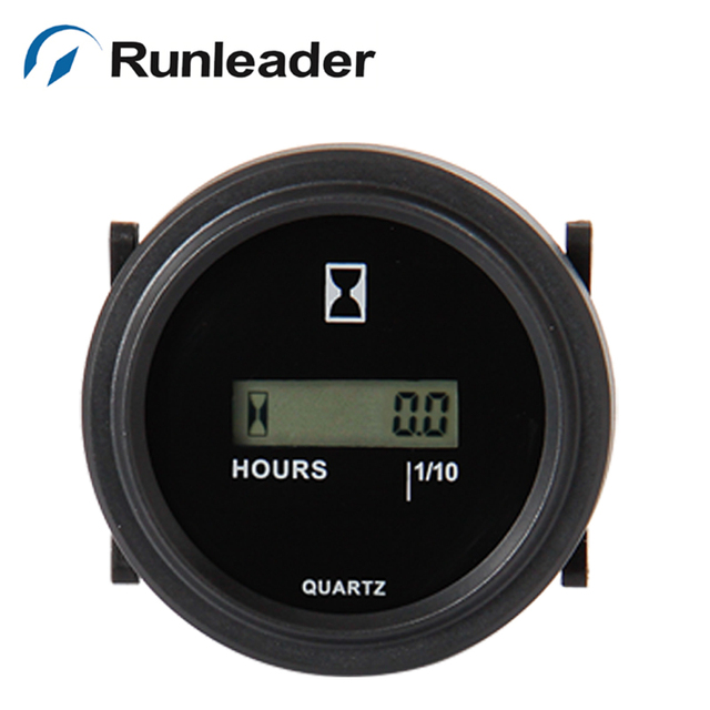 Round snap in RL-HM005 DC 4.5-90V LCD Hour Meter for Forklift truck marine farm machine chainsaw tractor aerator