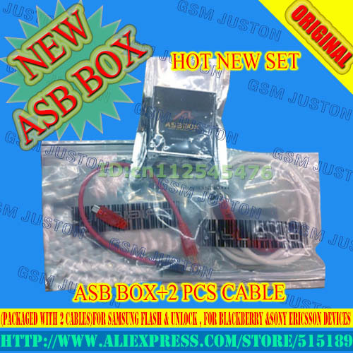 newest version ASB Box / AsanSam Box (Packaged with 2 cables)for samsung  flash & unlock , for blackberry &Sony Ericsson Devices