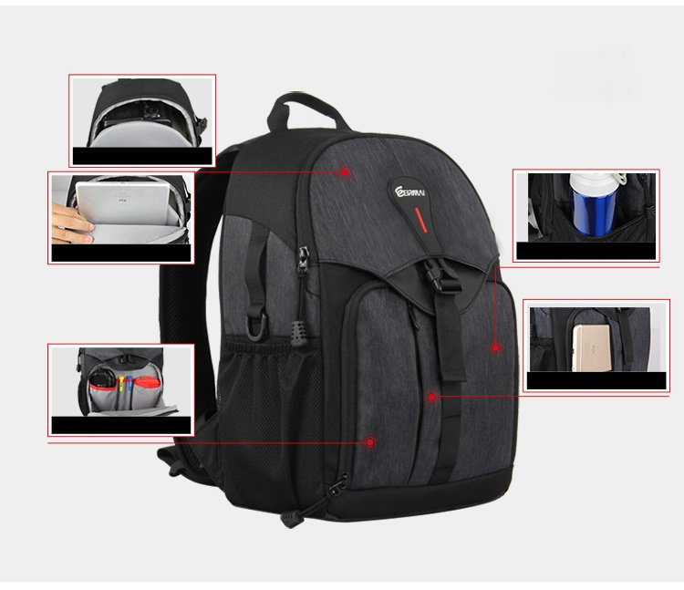 NEW Waterproof BACKPACK DSLR SLR Camera Case Bag For Nikon Canon Sony Fuji Pentax Olympus Leica Outdoor Bag Photograph Bag D2830 dslr camera backpack padding lens divider insert bag with 15 laptop pack travel bag for canon 5d 7d 600d nikon d7200 sony a6000